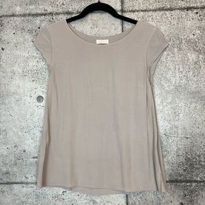 Aritzia // Wilfred Free // Taupe Juliet Blouse